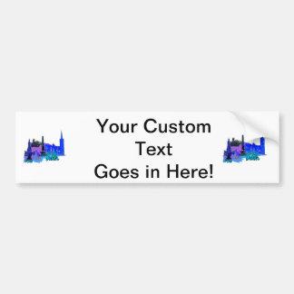 dublin ireland blue city graphic.png car bumper sticker