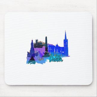 dublin ireland blue city graphic.png mousepad