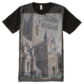 Dublin Ireland Cathederal tee All-Over Print Shirt