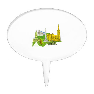 dublin ireland city graphic.png cake topper