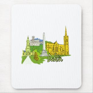 dublin ireland city graphic.png mousepads