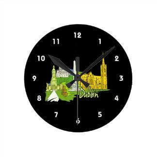 dublin ireland city graphic.png round clock