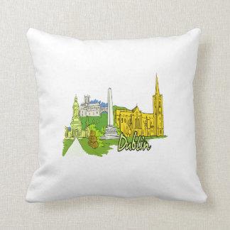 dublin ireland city graphic.png throw pillow