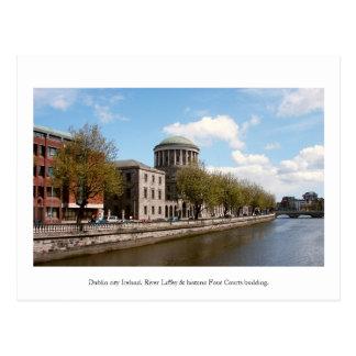 Dublin Ireland, Four Courts building Postcard