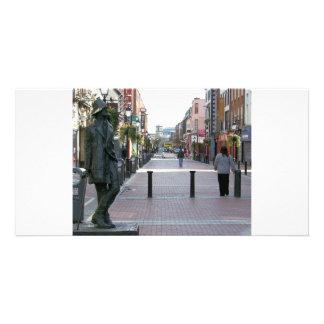 Dublin Ireland - James Joyce sculpture Card