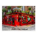 Dublin pub, Ireland postcard
