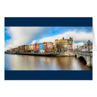 Dublin Ireland - River Liffey Panorama Card