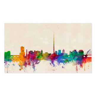 Dublin Ireland Skyline Cityscape Business Cards