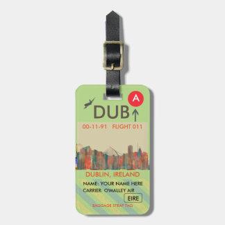 Dublin  Ireland Skyline-Navaho Bag Tag