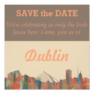 Dublin  Ireland Skyline-Navaho Card