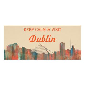 Dublin  Ireland Skyline-Navaho Rack Card