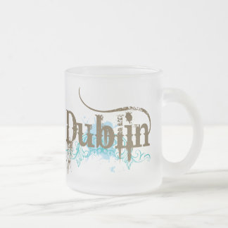 Dublin Ireland T-shirt Frosted Glass Coffee Mug