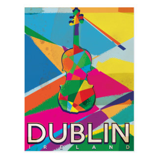 Dublin Ireland Vintage Travel poster Postcard