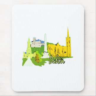 dublin ireland watercolour city graphic.png mousepad