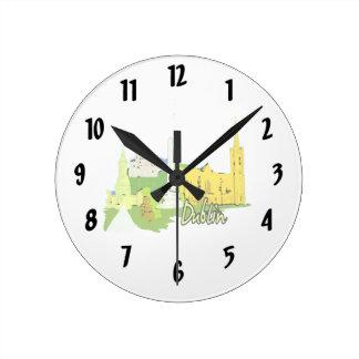 dublin ireland watercolour city graphic.png round clock