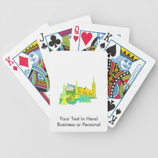 dublin ireland yellow city graphic.png bicycle playing cards