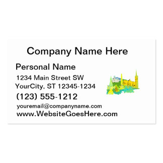 dublin ireland yellow city graphic.png business card template