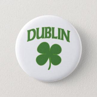 Dublin Irish Shamrock Button