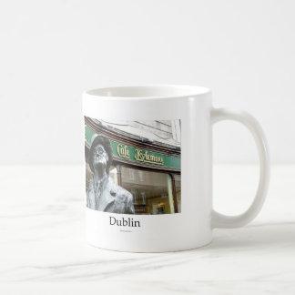 Dublin, Irlanda, Café Kylemore, James Joyce Statue Taza De Café