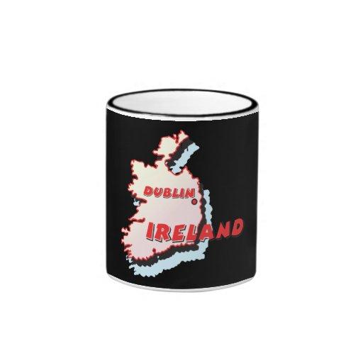 Dublín Irlanda Taza De Dos Colores