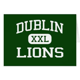 Dublin - Lions - Dublin High School - Dublin Texas Greeting Cards
