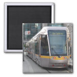 Dublin Luas Silver Tram with Yellow Stripe Magnet