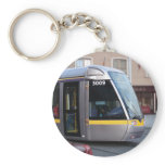 Dublin Luas Silver Tram Yellow Stripe Keyring