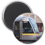 Dublin Luas Silver Tram Yellow Stripe Magnet