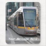 Dublin Luas Silver Tram Yellow Stripe Mousepad