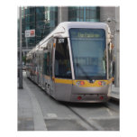 Dublin Luas Silver Tram Yellow Stripe Poster