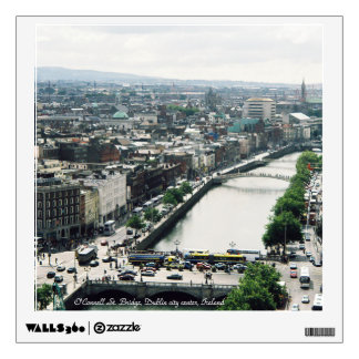 Dublin panorama, O'Connell st. Bridge Wall Sticker