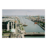 Dublin Skyline Ireland, River Liffey, IFSC Posters
