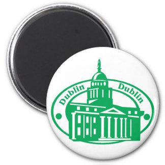 Dublin Stamp 2 Inch Round Magnet
