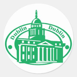 Dublin Stamp Classic Round Sticker