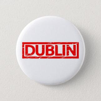 Dublin Stamp Pinback Button