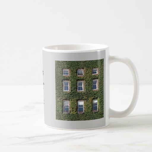 Dublin Town House Windows Climbing Ivy Coffee Cup