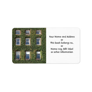 Dublin Town House With Ivy Name Gift Tag Bookplate at Zazzle
