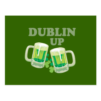 DUBLIN UP POSTCARD