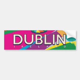Dublin Vintage Travel poster Bumper Sticker