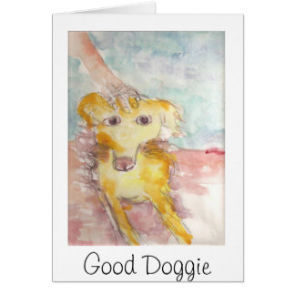 Dublin with hand 2, Good Doggie Stationery Note Card