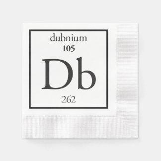 Dubnium Coined Cocktail Napkin