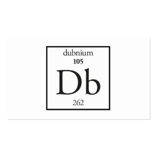 Dubnium Double-Sided Standard Business Cards (Pack Of 100)