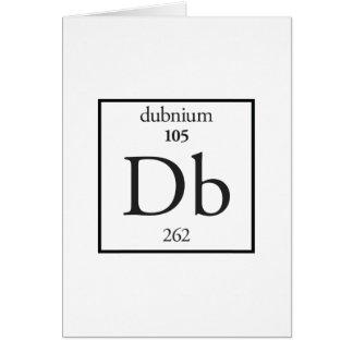 Dubnium Greeting Card