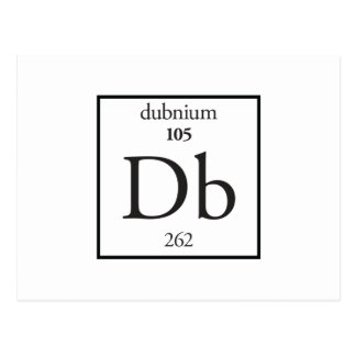 Dubnium Postcard