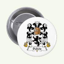 Dubois Family Crest Button
