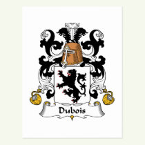 Dubois Family Crest Postcard