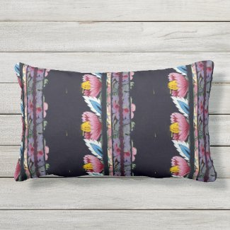 "Dubois Style Floral Lumbar Pillow 13"" x 21"""