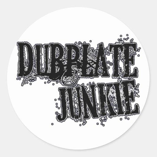 Dubplate Junkie Vinyl collector Dubstep DJ Round Sticker