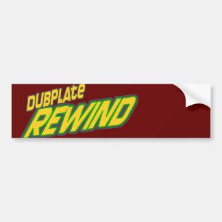 Dubplate Rewind Dub Bumper Sticker