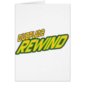 Dubplate Rewind Dub Greeting Card
